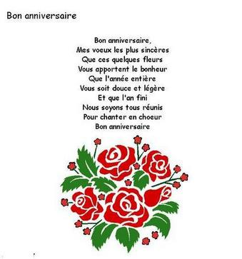 bon anniversaire paroles